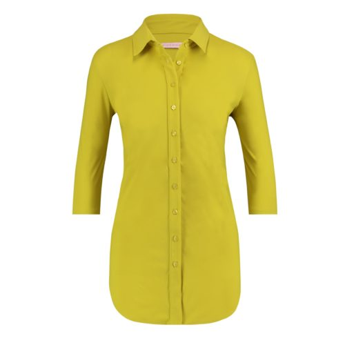 cuff sleeve blouse lime